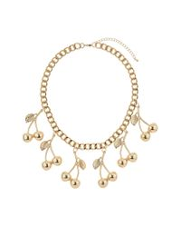 TOPSHOP - Metallic Cherry Bunch Necklace - Lyst