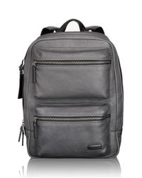 Tumi - Gray 'mission - Bryant' Leather Backpack for Men - Lyst
