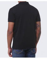 GANT - Black Pique Cotton Polo Shirt for Men - Lyst