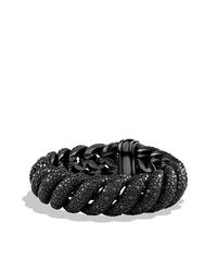 David Yurman | Black Hampton Cable Bracelet With Diamonds | Lyst