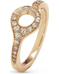 Georg Jensen | Metallic Dune 18ct Rose-gold And Diamond Ring | Lyst