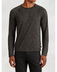 John Varvatos | Gray Wool and Silk Jumper for Men | Lyst