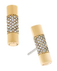 Michael Kors | Metallic City Barrel Stud Earrings | Lyst