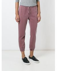 Bliss and Mischief - Gray Lace-up Track Pants - Lyst