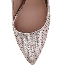 Elliott Lucca - Pink Catalina Woven Leather Pumps - Lyst