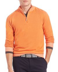Saks Fifth Avenue | Orange Plaited Cotton Sweater for Men | Lyst