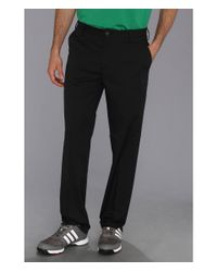 Adidas | Black Flat Front Tech Pant '16 for Men | Lyst
