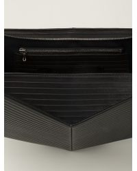 Julius   Black Medium Geometric Zipped Clutch for Men   Lyst