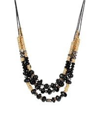 Kenneth Cole | Black Beaded Three-row Necklace | Lyst