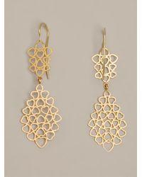 Marie-hélène De Taillac - Metallic Heart Earrings - Lyst