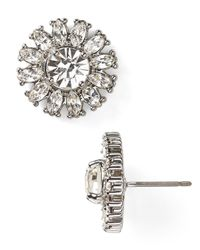 kate spade new york - Metallic Estate Garden Mini Stud Earrings - Lyst