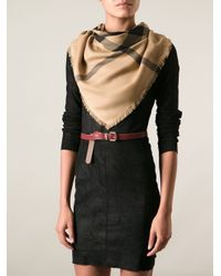 Burberry Brit - Brown Large Check Scarfhay - Lyst
