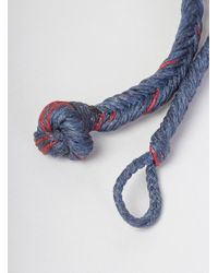 Scosha | Blue Monkey Knot Braided Bracelet Denim & Red for Men | Lyst