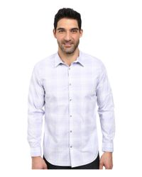 Calvin Klein | Purple Plaid Cool Tech Woven Shirt for Men | Lyst