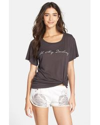 All Things Fabulous | Gray Short Sleeve Graphic Tee | Lyst