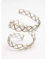 Free People - Metallic Metal Upper Armband - Lyst