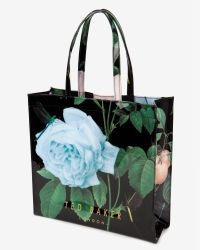 Ted Baker - Black Distinguishing Rose Shopper - Lyst