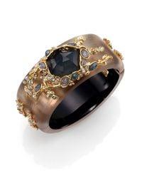 Alexis Bittar | Metallic Imperial Semi-Precious Multi-Stone, Lucite & Crystal Bangle Bracelet | Lyst