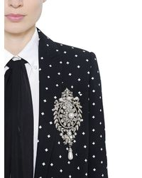 Givenchy - Black Crosses Printed Cady Jacket - Lyst