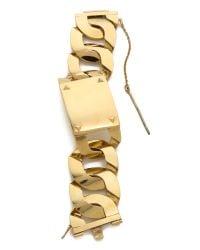 House of Harlow 1960 | Metallic Id Bracelet - Gold | Lyst