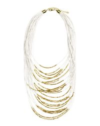 H&M | White Multistrand Necklace | Lyst