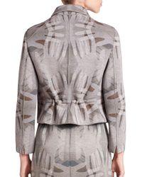 Akris Punto - Gray Hand-print Neoprene Jacket - Lyst