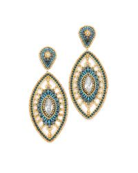 Miguel Ases - Caroline Earrings - Blue Multi - Lyst