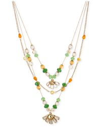 Betsey Johnson - Multicolor Gold-tone Daisy Multi-row Necklace - Lyst