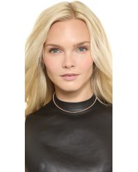 Eddie Borgo | Pink Scaled Choker - Rose Gold | Lyst