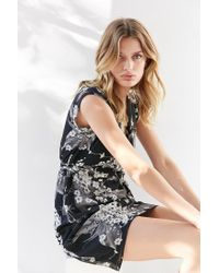 Kimchi Blue - Black Straight Wrap Dress - Lyst