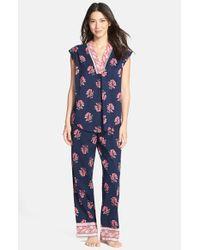 Lucky Brand - Blue Floral Print Pajamas - Lyst