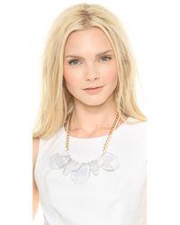 Adia Kibur - Metallic Large Crystal Necklace Clear - Lyst
