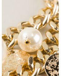 Edward Achour Paris - Metallic Coin Charm Bracelet - Lyst