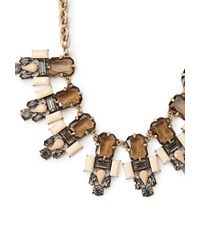 Forever 21 - Pink Faux Stone Statement Necklace - Lyst