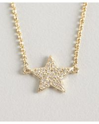 KC Designs - Metallic Gold And Diamond Star Charm Bracelet - Lyst