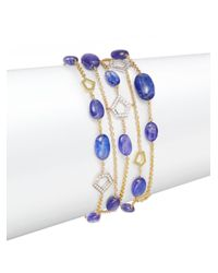 Ron Hami - Metallic Diamond, Tanzanite & 18k Yellow Gold Five-strand Bracelet - Lyst