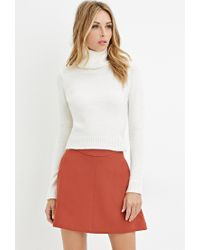 Forever 21   Natural Contemporary Textured Turtleneck Sweater   Lyst