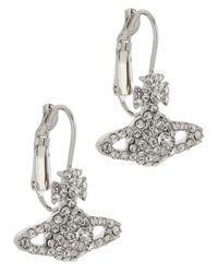 Vivienne Westwood | Metallic Grace Bas Silver Tone Swarovski Orb Earrings | Lyst