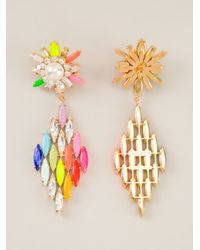 Shourouk | Multicolor 'cobra' Earrings | Lyst