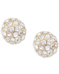 Carolee | Metallic Glass Accent Spherical Stud Earrings | Lyst