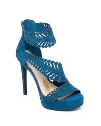 Jessica Simpson | Blue Azure Suede Platform Ankle-strap Sandals | Lyst
