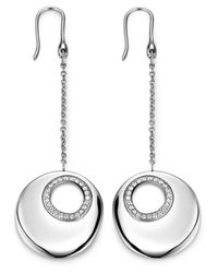 Breil | Metallic Stainless Steel Swarovski Crystal Circle Earrings | Lyst