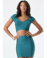 Bebe | Blue Cutout Bandage Crop Top | Lyst