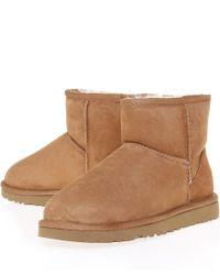 UGG - Brown Chestnut Classic Mini Sheepskin Boots - Lyst