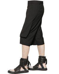 D.GNAK - Black Wrapped Fluid Cotton Blend Canvas Shorts for Men - Lyst