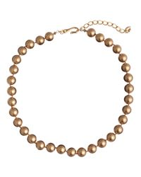 Carolee | White Faux Pearl Gold Necklace | Lyst