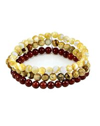 Lord & Taylor | Yellow Semi-precious Multi-stone And Sterling Silver Beaded Bracelet | Lyst