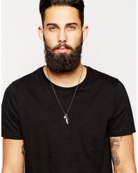 Simon Carter | Metallic Skull And Feather Necklace Exclusive To Asos for Men | Lyst