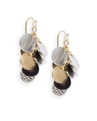 Saks Fifth Avenue - Metallic Multi-finish Coin Cluster Earrings - Lyst