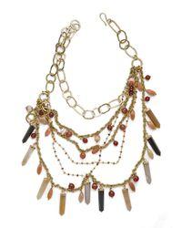 Ashley Pittman - Multicolor Multi-chain Crystal/carnelian Necklace - Lyst